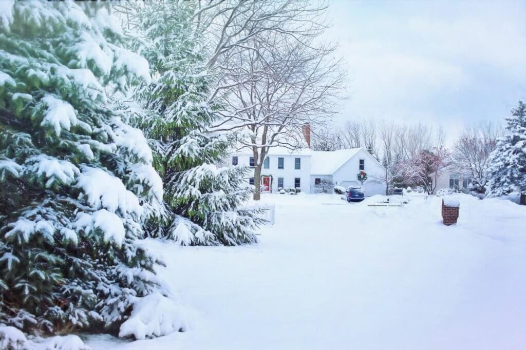 Winter Yard and House